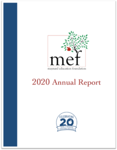 MEF 2020 Annual Report Cover